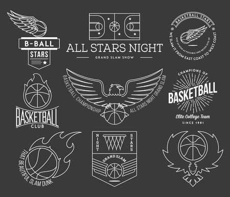 college basketball: Basketball badges and crests for any use