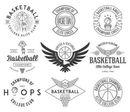 badges de basket-ball et de crêtes pour tout usage