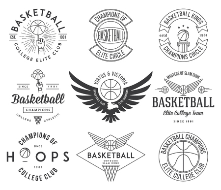 crests: Basketball badges and crests for any use
