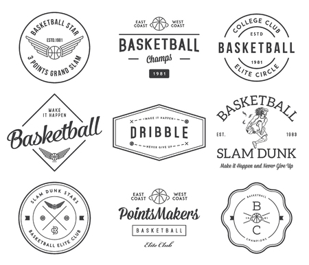 Basketball badges and crests for any use Vektorové ilustrace