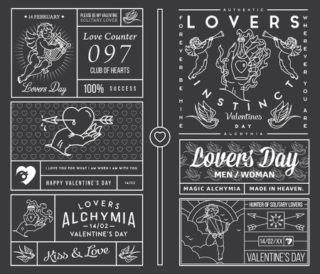 cherub: Lovers Greeting Cards white on black
