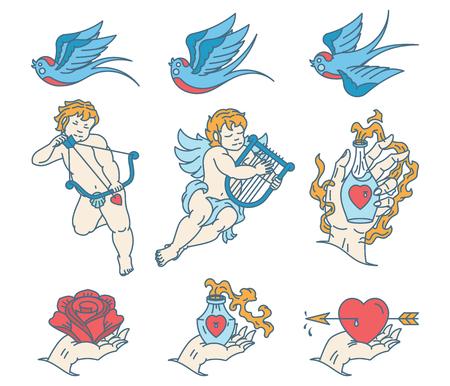 Lovers Tattoo coloré pour tout usage