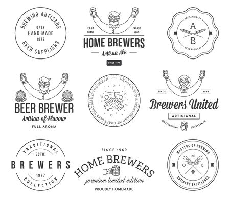 brewer: Vector beer badges and labels for any use Illustration