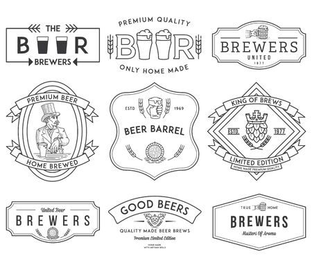 brewer: Verctor beer badges for any use