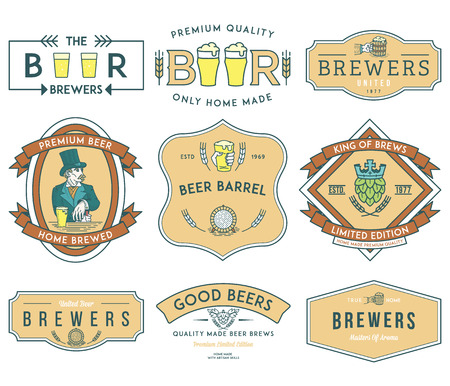 draft beer: Verctor beer badges for any use
