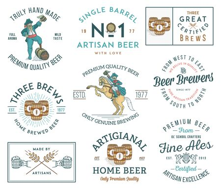 Illustrations celebrating artisan handmade beer
