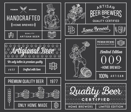 draft beer: Vector beer labels for any use