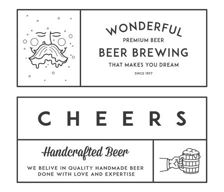 draft beer: Vector beer illustrations for any use