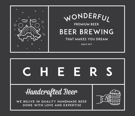 brewer: Vector beer illustrations for any use