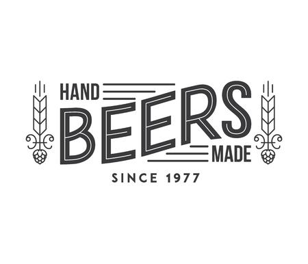 typographic: Typographic illustration about handmade beer