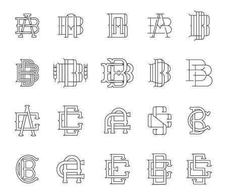 typographic: Collection of vector Typographic monograms