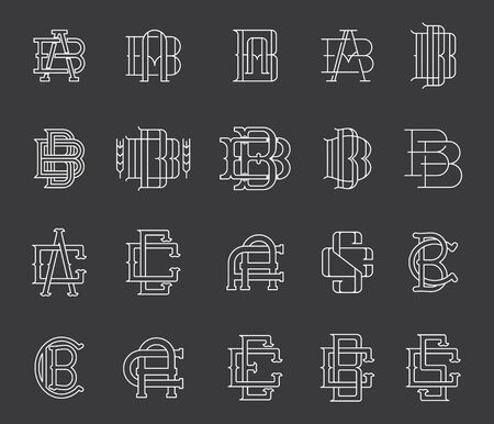 sans: Collection of vector Typographic monograms
