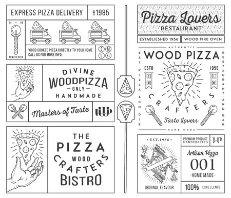 margherita: Masters and lovers of pizza vector concept