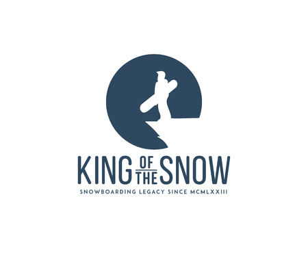 Vector inverno concetto di sport snowboard