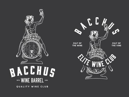 bacchus: Bacchus sitting on a wood wine barrel