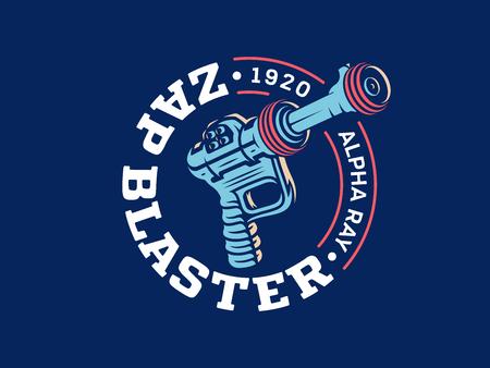 Its a vector illustrationn depicting a vintage raygun blaster Illustration