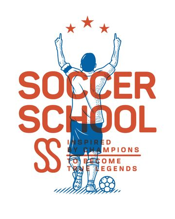It's an illustration of a soccer school and how to become as a football champion
