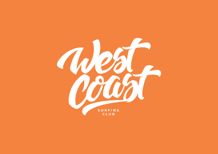 West coast is a vector illustration about surf and surfing Vektorgrafik