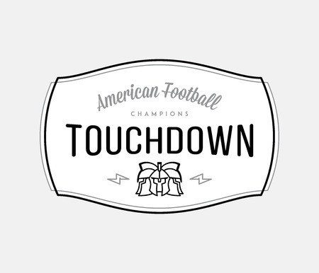 Black on white American Football vector modern badge is all about celebrating professional sport Stock Illustratie
