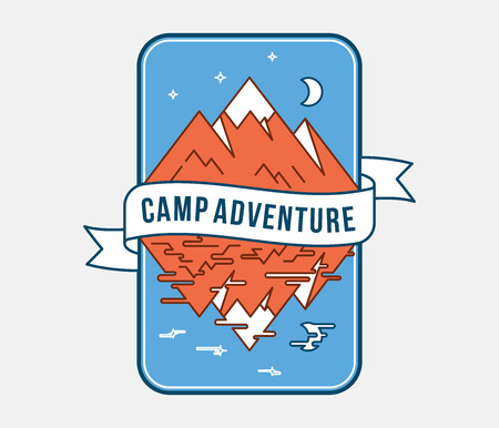 Outdoor camp adventure is a vector illustration about fun and exploration Stock Vector - 111825654