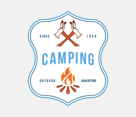 Outdoor camping adventure is a vector illustration about adventure and exploration Illustration