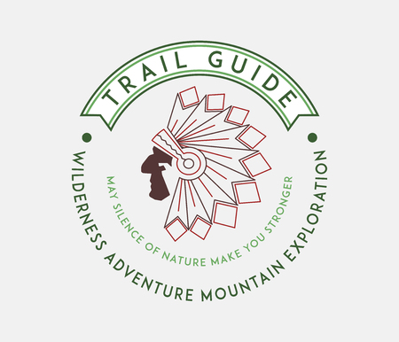 Outdoor native trail guide is a vector illustration about wilderness exploration