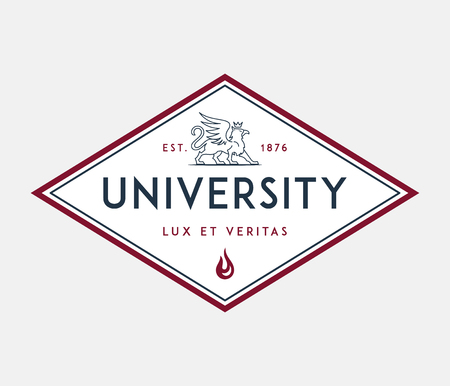 University lux et veritas is a vector illustration about studying and learning Ilustracja
