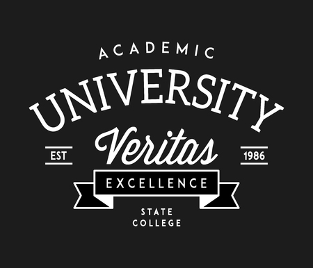 University veritas excellence white on black is a vector illustration about studying and learning