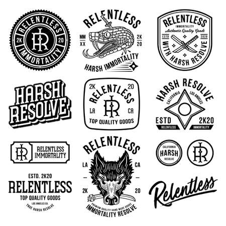 Relentless immortality starting pack black designs on a white background