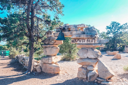 hermits: Hermits Rest at Grand Canyon, Arizona USA Stock Photo