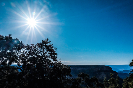 View of Grand Canyon, from Hopi Point at sunset.