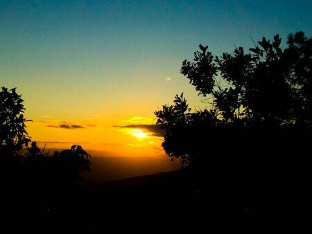 Sun rise Phu Kradueng National Park,Thailand