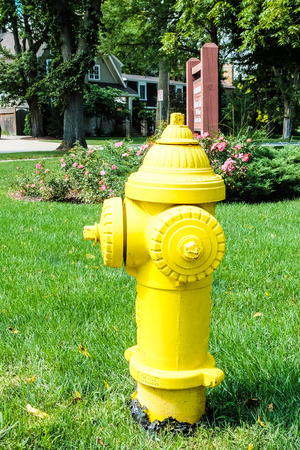 borne fontaine: Yellow Hydrant