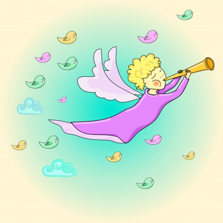 Angel in the sky Stock Vector - 18408626