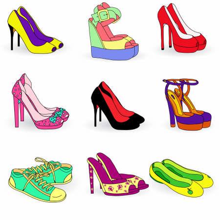 tacones rojos: Colección de colores zapatos de mujer de moda