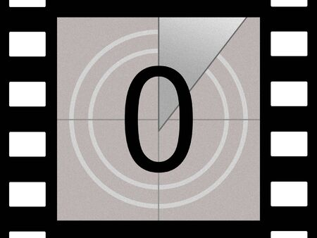 Simulation of a film countdown photo