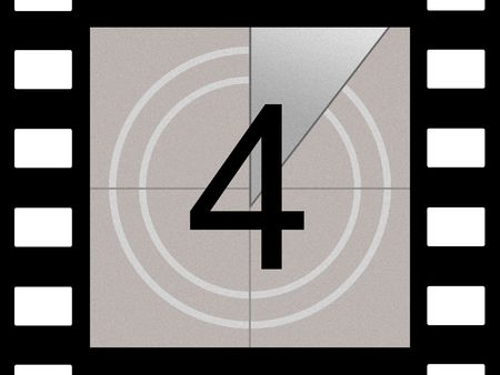 Simulation of a film countdown