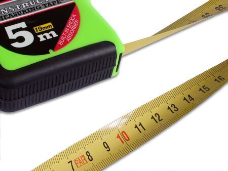 Measuring tape in white background photo