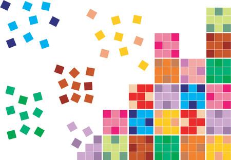 color separation: Tiles of diferent colors Illustration