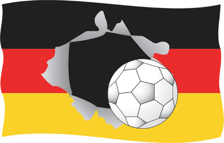 rend: German flag with football