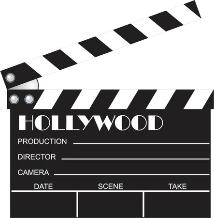 movie clapboard Vector