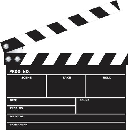 oscars: movie clapboard Illustration