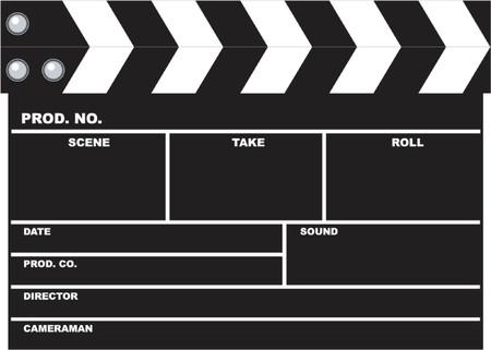 directors cut: movie clapboard Illustration