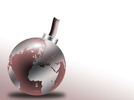 end of world: Glass globe with world map
