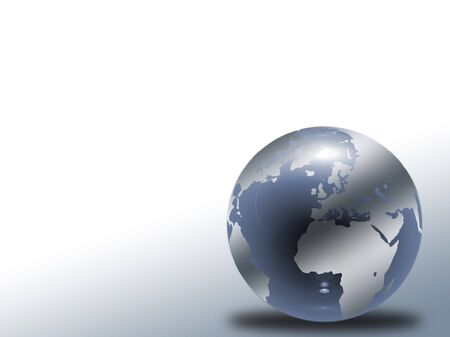 Glass globe with world map