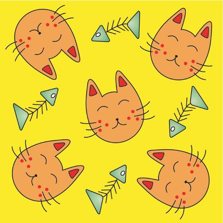 naif: Cat and fishbone