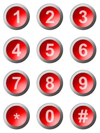 teclado num�rico: teclado num�rico en fondo blanco