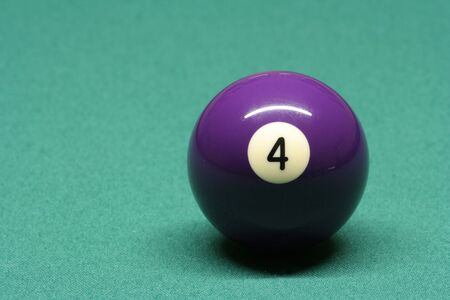 pool ball: Pool ball number 04 in pool table Stock Photo