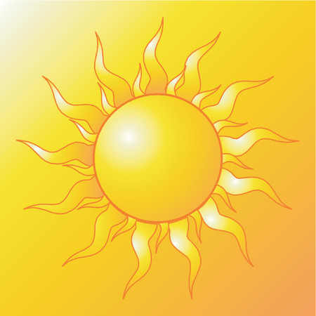 fondo luminoso: Sol  Vectores
