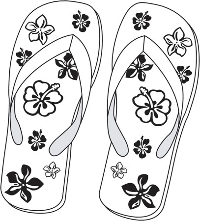 Pair of beach sandals Stock Vector - 468340